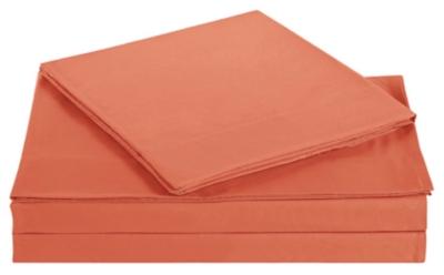 Microfiber Truly Soft Twin Sheet Set, Orange, large