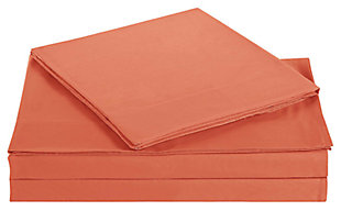 Microfiber Truly Soft Twin Sheet Set, Orange, large