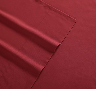 Microfiber Truly Soft Twin Sheet Set, Red, large
