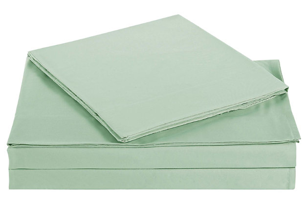 Microfiber Truly Soft Twin Sheet Set, Sage, large