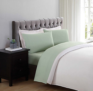 Microfiber Truly Soft Twin Sheet Set, Sage, rollover