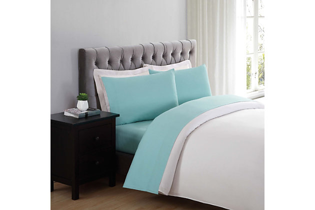 Microfiber Truly Soft Twin Sheet Set, Turquoise, large