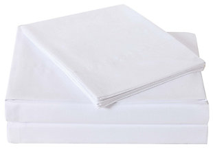 3 Piece Twin Truly Soft Everyday White Sheet Set, White, large