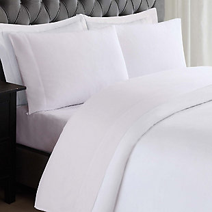 3 Piece Twin Truly Soft Everyday White Sheet Set, White, rollover