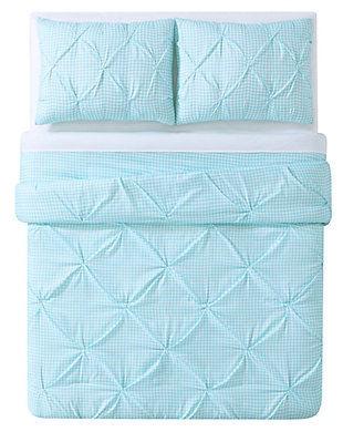 2 Piece Twin XL Duvet Set, Aqua, large