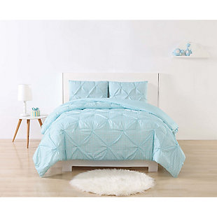 2 Piece Twin XL Duvet Set, Aqua, rollover