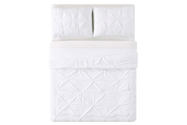 2 Piece Twin XL Comforter Set, White, large