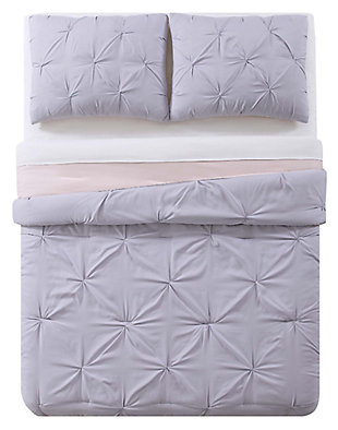 2 Piece Twin XL Duvet Set, Lavender/Blush, large