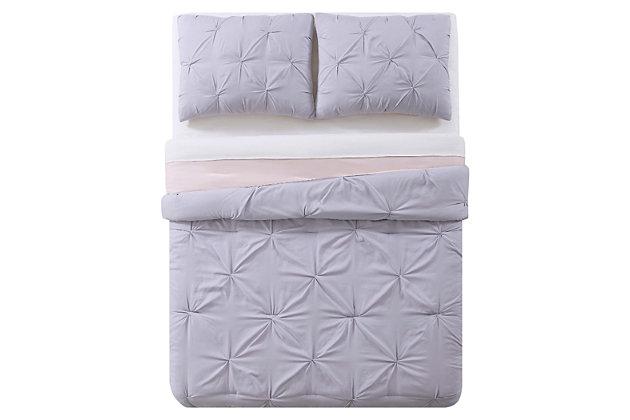 2 Piece Twin XL Duvet Set, Lavender/Blush, large