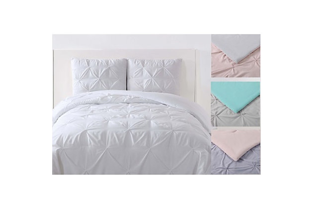 2 Piece Twin XL Duvet Set, White, large