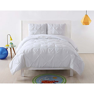 2 Piece Twin XL Duvet Set, White, rollover