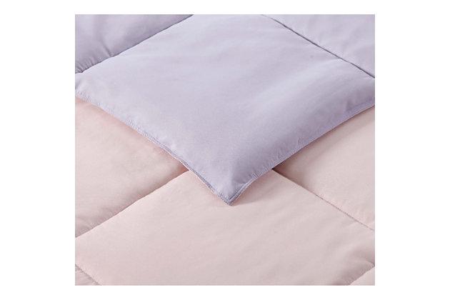 2 Piece Twin XL Comforter Set, Lavender/Blush, large