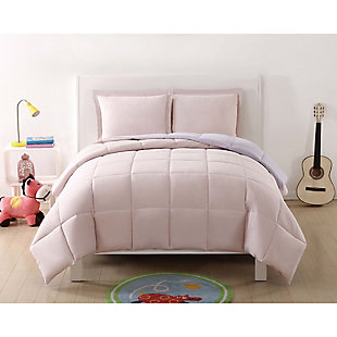 2 Piece Twin XL Comforter Set, Lavender/Blush, rollover