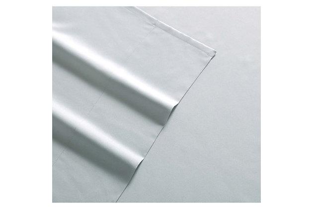 3 Piece Twin Sheet Set, Gray, large