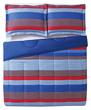 2 Piece Twin Comforter Set, Multi, large