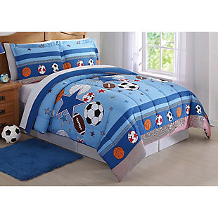 2 Piece Twin Comforter Set, Multi, rollover