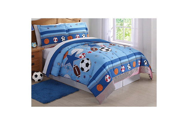 2 Piece Twin Comforter Set, Multi, large
