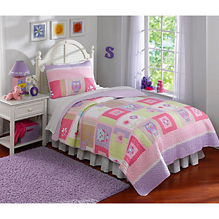 2 Piece Twin Quilt Set, Multi, large