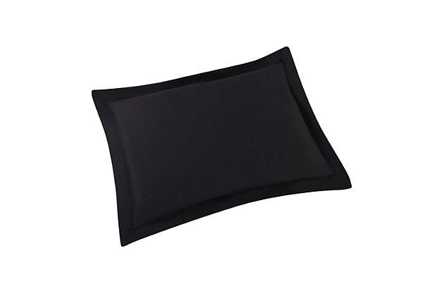 2 Piece Twin XL Comforter Set, Black/Gray, large