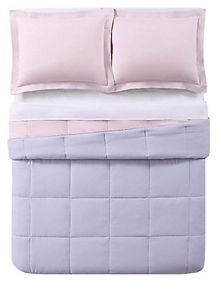 2 Piece Twin XL Comforter Set, Lavender/Blush, large