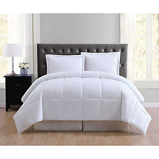 2 Piece Twin XL Comforter Set, White, rollover