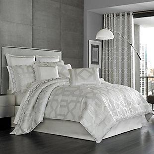 Geometric 4-Piece King Comforter Set, Sterling, large