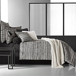 Cotton 4-Piece Full Comforter Set, Black/Gray, large