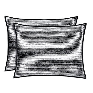 Cotton Standard Euro Sham, Black/Gray, large