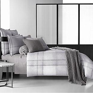 Cotton King Duvet Cover, Gray, large