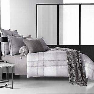 Cotton King Duvet Cover, Gray, rollover