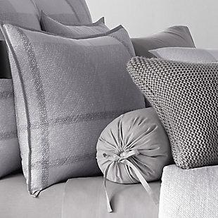 Cotton 4-Piece Queen Comforter Set, Gray, large