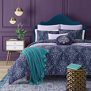 Kinsley 3-Piece Full/Queen Comforter Set, Indigo, large
