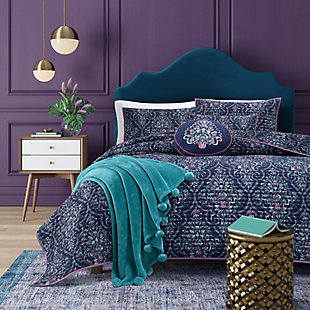 Kinsley Full/Queen Coverlet, Indigo, large
