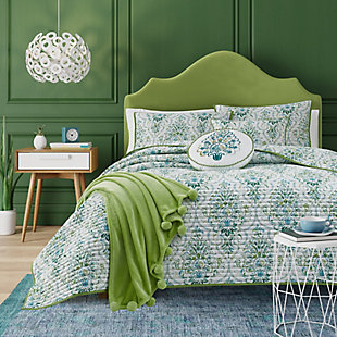 Kinsley Full/Queen Coverlet, Teal, large