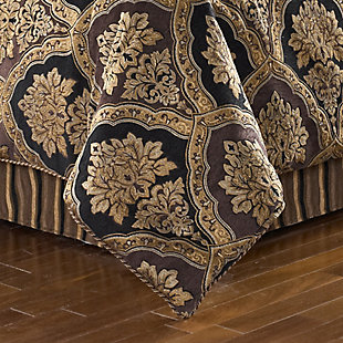 Woven Jaquard 4-Piece King Comforter Set, Chocolate, large