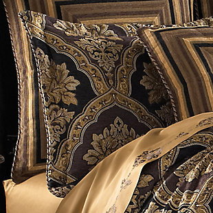 Woven Jaquard 4-Piece Queen Comforter Set, Chocolate, rollover