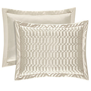 Geometric Standard Euro Sham, Natural, large