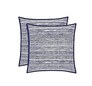 Brushed Cotton Square Euro Sham, Indigo, large