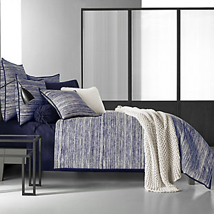 Brushed Cotton Full/Queen Duvet Cover, Indigo, rollover