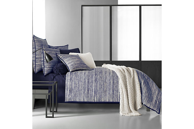 Brushed Cotton Full/Queen Duvet Cover, Indigo, large