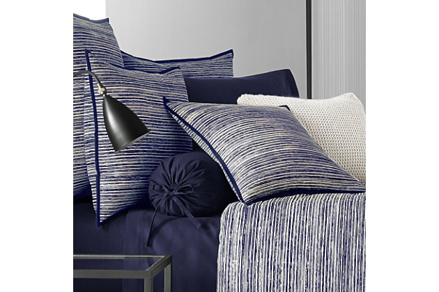 Brushed Cotton 4-Piece Queen Comforter Set, Indigo, large