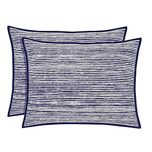 Brushed Cotton Standard Euro Sham, Indigo, large