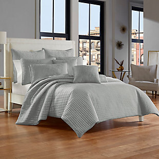 Quilted Full/Queen Coverlet, Spa, rollover