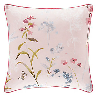 "Floral 18"" Square Throw Pillow, , large"