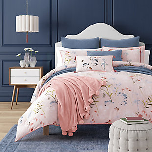 Floral 3-Piece Full/Queen Comforter Set, Rose, rollover