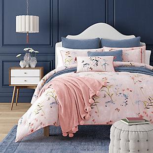 Floral 3-Piece Full/Queen Comforter Set, Rose, large