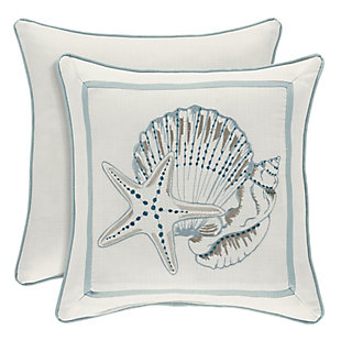 """Sea Shells 16"""" Square Throw Pillow, , large"""