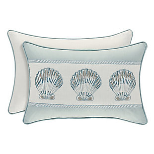 Sea Shell Boudoir Throw Pillow, , large