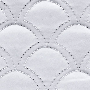 """Quilted 20"""" Square Throw Pillow, White, large"""