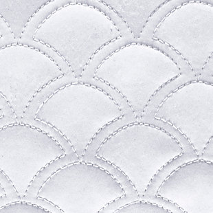 Quilted Square Euro Sham, White, large